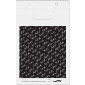 Plastpose 24x35cm, m. blok (genbrugsplast)