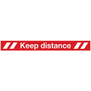 """KEEP DISTANCE"" FOLIE, T/GULV"