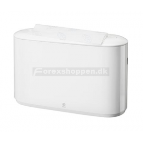 Dispenser håndklædeark Tork Xpress Multifold H2 bord hvid plast