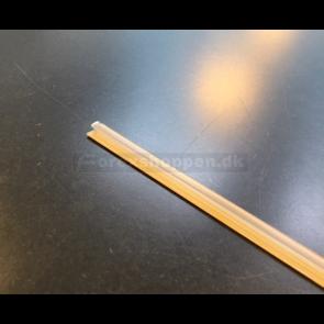Forspor til skillerum L100cm, T-rail m/tape klar plast