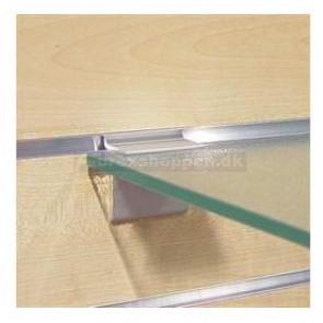 Konsol f/glashylde 8mm t/rillepanel (enkelt stk)
