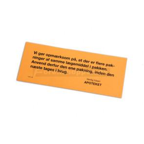 Reminder, vi gør opmærksom på….