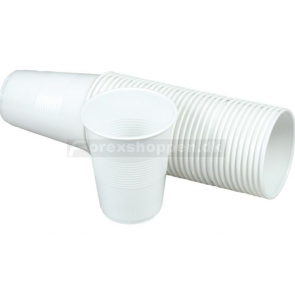 Plastikbægere 21cl (hvid)